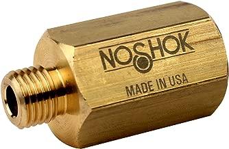 "NOSHOK 1135 Series Brass Sintered Pressure Snubber with Grade B Disc, 7/16""-20 SAE-4, 6000 psi Pressure Range"