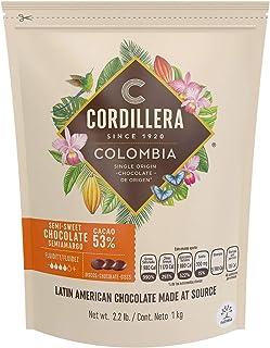 Cordillera   Semi-Sweet Chocolate Couverture   Cacao 53%   2.2 Lb, Pack of 1   Colombia Single Origin   Rea...