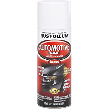 Rust-Oleum 252468 Automotive Rust Preventive Enamel Spray Paint, Aerosol, 8-10 Sq-Ft/Can, 12 oz, Gloss White