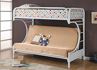Montgomery Twin over Full Futon Bunk Bed Glossy White
