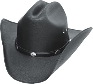 7943550e6d411 Western Express Classic Cattleman Straw Cowboy Hat with Silver Conchos