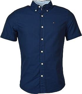 Tommy Hilfiger Mens Custom Fit Short Sleeve Button Down Shirt