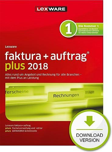 Lexware faktura+auftrag plus 2018 Download Jahresversion (365-Tage) [Online Code]