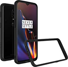 RhinoShield Bumper Case for OnePlus 6T [CrashGuard] | Shock Absorbent Slim Design Protective Cover [3.5M/11ft Drop Protection] - Black