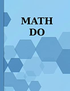 Math Do: Graph Paper Composition Notebook with 1/2-inch Grids
