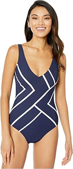 Mirage V-Neck One-Piece