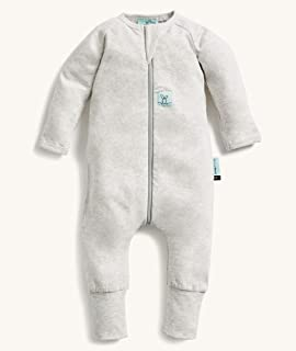 ergoPouch Organic Cotton Long Sleeve Layers, 0.2 TOG, for Kids 1 Year, Grey Marle
