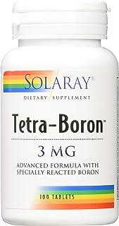 Solaray Tetra Boron 3mg Tablets, 100 Count