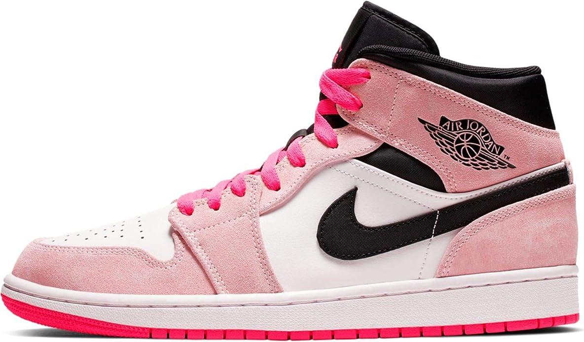 Nike Air Jordan 1 Mid Se Mens Sneakers 852542-801, Crimson Tint ...