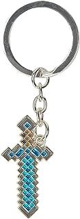 JINX Minecraft Diamond Sword Metal Key Chain, Metallic with Enamel Fill, One Size