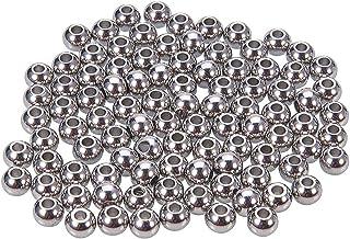 Interval Kraal 200 Stks 4 Mm Metalen Spacer Kralen Verzilverde Ronde Kralen Tiny Soepele Kralen Voor Kettingen, Armbanden ...