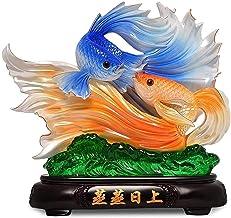 Woondecoratie Standbeelden Feng Shui Ornamenten Rijkdom Goudvis Geluksbeeld Beeldje Kantoor Woonkamer Decoratie Beste Cade...