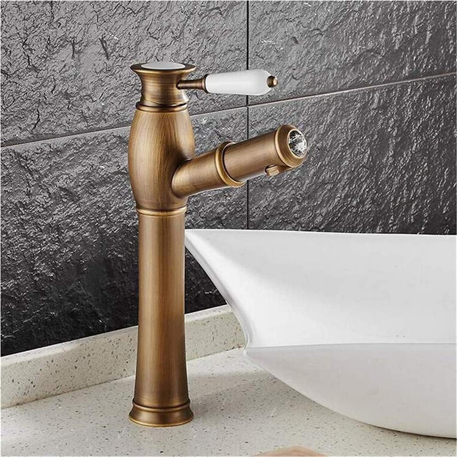 High Quality Kitchen Brass Stainless Steelshampoo Faucet Hot and Cold Mixer Taps Ceramic Handle with Diamonds Kitchen Faucet
