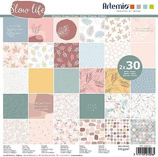 Papier Scrapbooking Artemio - Collection Slow Life - 30,5 x 30,5 cm - 60 pcs