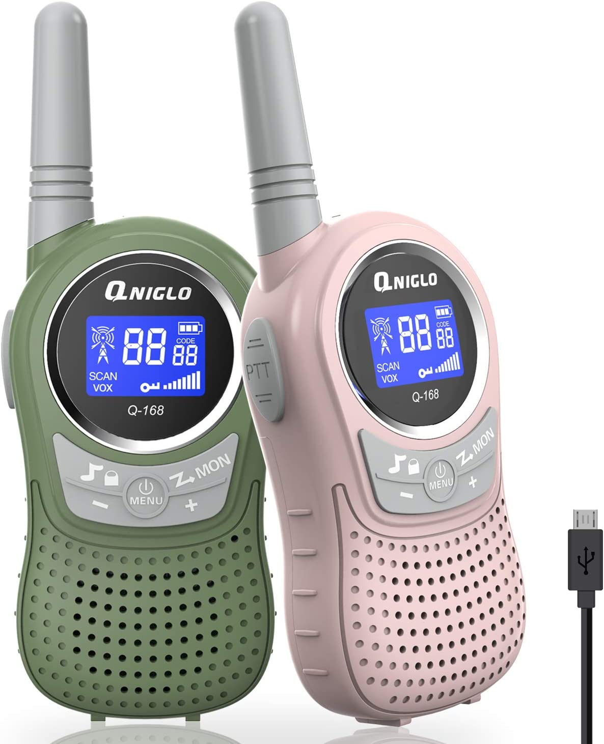 QNIGLO Walkie Wholesale Talkies for Kids 3-12 Toys Japan Maker New Years Rechargeable