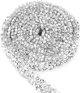 Hilitand 10yard 10mm Strass Ruban Diamant Argent en Plastique Rouleau de Maille de Diamant Enrouleur De Maille Artisanat D...