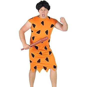 FOXXEO Naranja Negro Edad de Piedra Hombres Disfraz para el ...