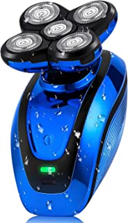 Telfun 5-in-1 Electric Shaver for Men, Wet&Dry Rechargeable Mens Rotary Shavers, 4D Floating 5...