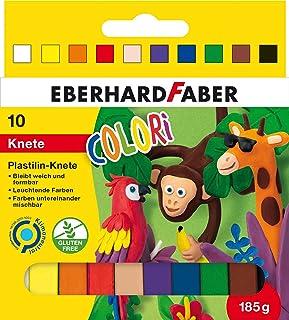 Eberhard Faber 572011 - plastelina plastikowa w 10-częściowym etui kartonowym, wielokolorowa