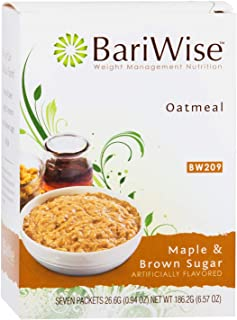 BariWise Low-Carb High Protein Oatmeal / Instant Diet Hot Oatmeals - Maple & Brown Sugar (7 Servings/Box) -...