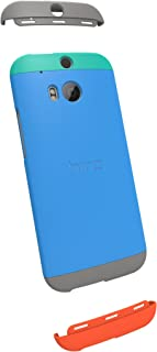 HTC Double Dip Case for HTC One (M8) - Retail Packaging - Teal/Swing Blue/Grey