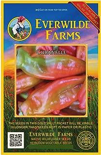 Everwilde Farms - 50 Cubanelle Sweet Pepper Seeds - Gold Vault Jumbo Seed Packet
