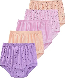 Size M-4XL 5-Pack Womens Cotton Panties Full Coverage Panty,Comfy Cotton Granny Panties Full Cut