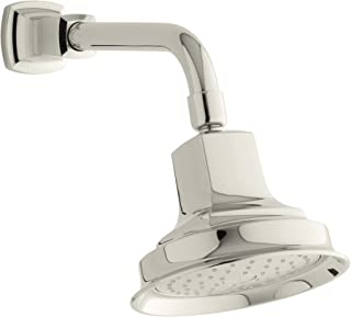 KOHLER 16244-AK-SN Margaux 2.5 Gpm Single-Function Wall-Mount Showerhead with Katalyst Spray, Vibrant Polished Nickel