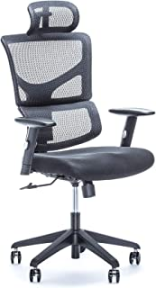 X Chair Executive Office Desk Chair (X-Basic) with Executive Headrest and Lumbar Support, Heavy Duty Rolling Wheels - Breathable Mesh Cushion - Adjustable Arms, Swivel Gaming Computer Chair