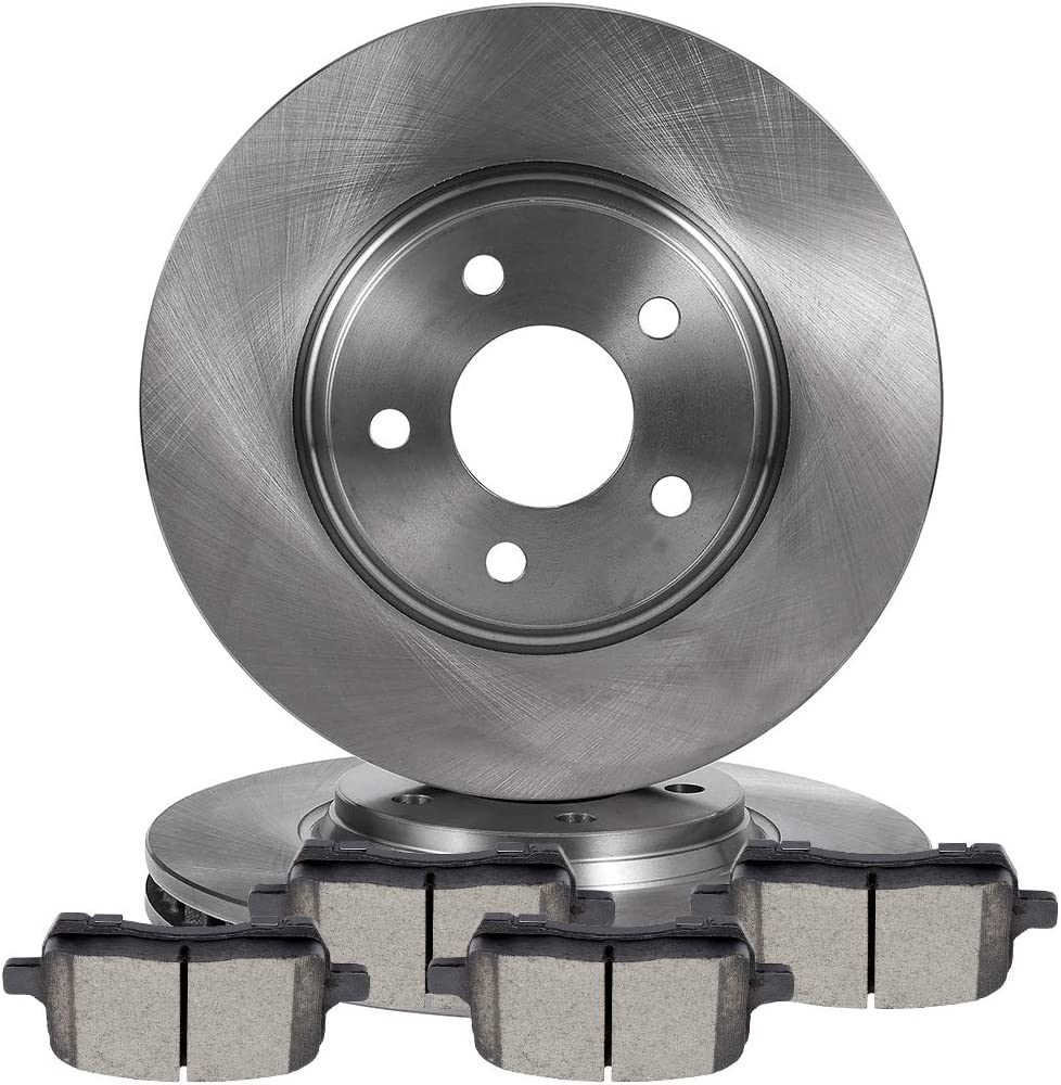ECCPP Dealing full price reduction Front 2pcs discs brake quality assurance rotors and 4 C pads for ceramic fit
