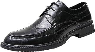 Zapatos de Cuero para Hombre, Zapatos de Vestir con Cordones de Verano a la Moda, Zapatos Formales para Hombre de Estilo b...