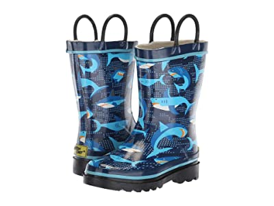Western Chief Kids Limited Edition Printed Rain Boots (Toddler/Little Kid) (Pixel Shark Camo) Boys Shoes