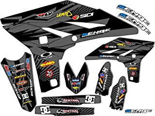 Compatible with Yamaha 2008-2019 TTR 110, Mayhem Black Graphics Kit