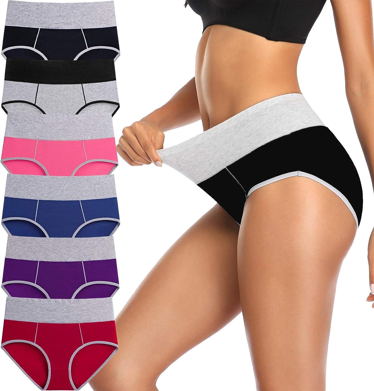 Annenmy Womens Underwear, Underwear for Women High Waist Underwear Women No Muffin Briefs Panties and Plus Size