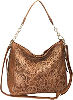 Laser Cut Bling Hobo fashion CCW Bag Faux Leather Concealed Carry Purse