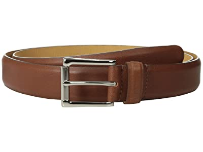 Cole Haan 32mm Burnished Edge Mill Egyptian Cow Belt (Tan) Men