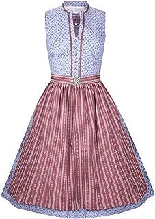 MarJo Trachten Damen Trachten-Mode Midi Dirndl Sabella in Hellblau traditionell