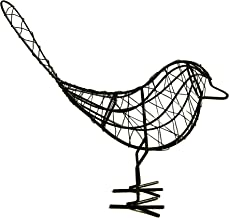 WhaleCreation Handicraft Bird Metal Decorative Figurine Home Decor Gift Toy (Black)