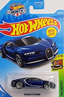 Hot Wheels 2019 Hw Exotics '16 Bugatti Chiron, Blue 236/250