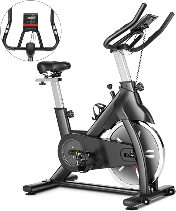 Cyclette da casa indoor spinning professionale training speed bike display lcd caroma B08TH8TWP3