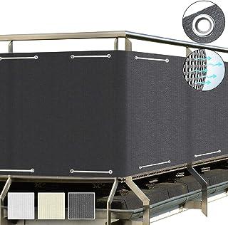 Sol Royal SolVision Protección Visual HB2 HDPE Pantalla Opaca 500x90 cm Antracita balcón privacidad con Ojales Cuerdas