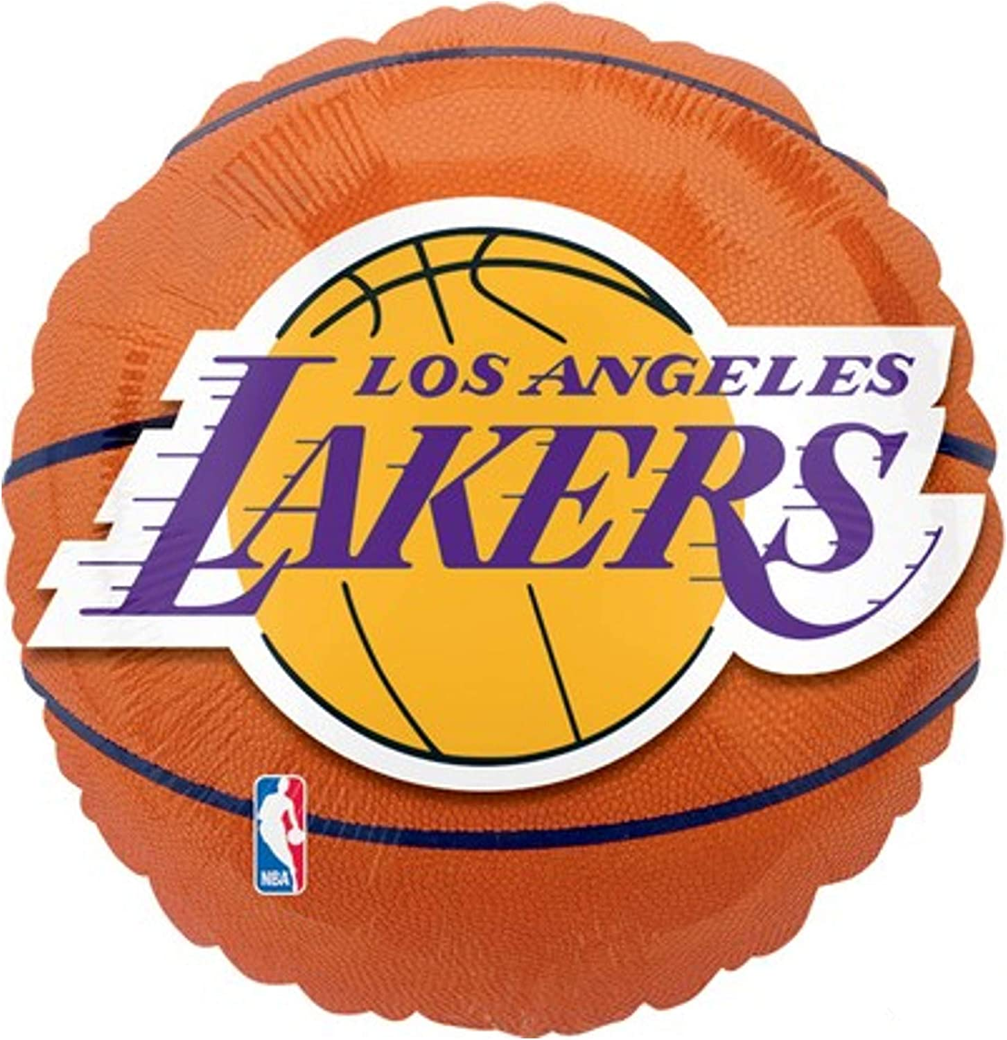 Fashionable Anagram International Los Angeles Lakers Balloons We OFFer at cheap prices 18 Party Flat