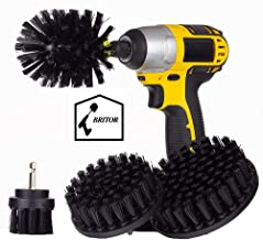 Drill Brush Kit for Tire and Rim Cleaning | 4 pc Drill Brush Car Detailing Attachment Set | Auto Detail and Scrub Brushes | Car Wash Supplies for Cleaner Cars, RVs, Tires, Rims, Wheels, and Vehicles