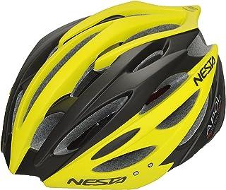 Nesta Apol Casco de Ciclismo, Unisex Adulto, Negro/Amarillo, S/M