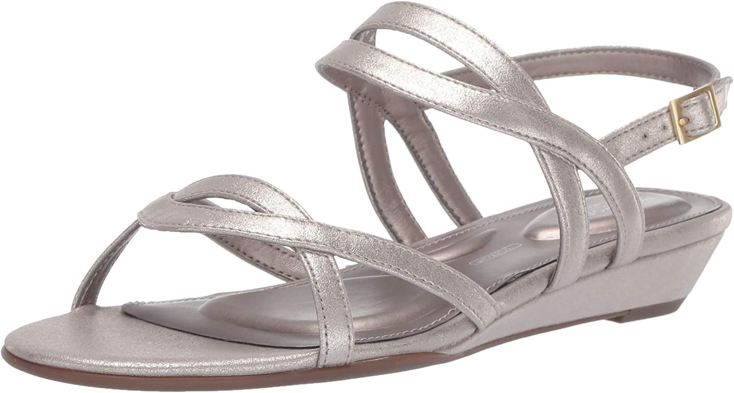 Rockport Womens Tm Zandra Slingback Wedge Sandal