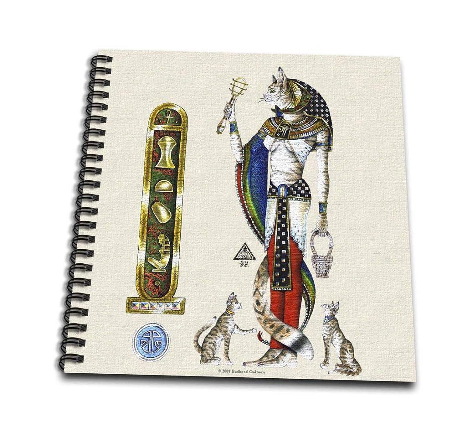 3dRose db_156681_1 Bast Egyptian Cat Goddess Pagan Art Drawing Book, 8