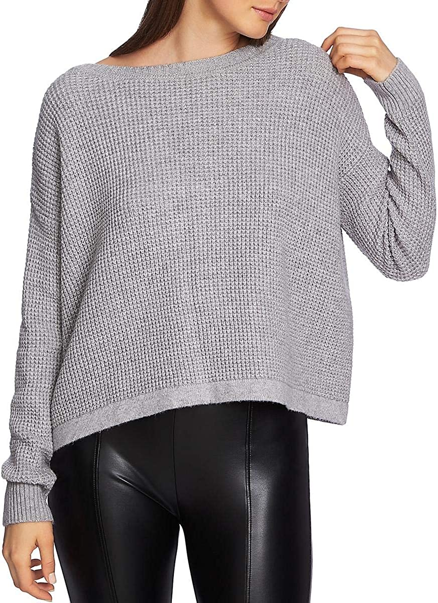 1.STATE Womens Lace-Up Back Pullover Sweater