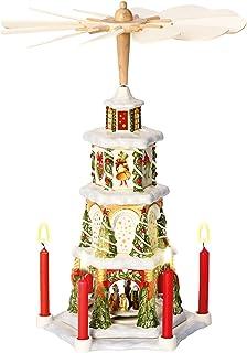 Villeroy & Boch 14-8602-5843 Pirámide de Navidad Christmas Toys Memory, parcialmente Pintada a Mano, 41 cm, en Festivo Embalaje de Regalo, Porcelana, Multicolor, 27.0x19.5x47.0 cm