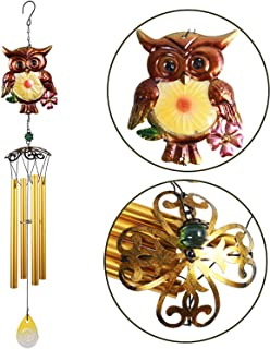 Owl Wind Chimes - 30 Inch Pure Hand-Made Waterproof Metal Musical Wind Bells With 4 Aluminum Tubes 1 Owl Mobile Wind Catcher Romantic Wind Chime for Home, Festival Decor, Indoor/Outdoor Decoration
