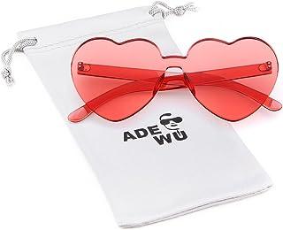 c83b9d0221 ADEWU Gafas de sol sin montura Gafas de sol con forma de corazón en forma de